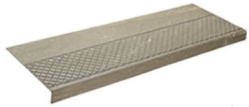 Nos. 622 Half Diamond Design Heavy Duty and GS622 Grit-Strip  Stair Treads<BR>With Companion 624 Tile and 788 Tile