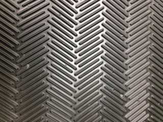 Herringbone Ribbed Vinyl Matting
