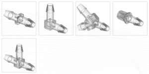 Clear Plastic Tube Fittings (Clear Polycarbonate)