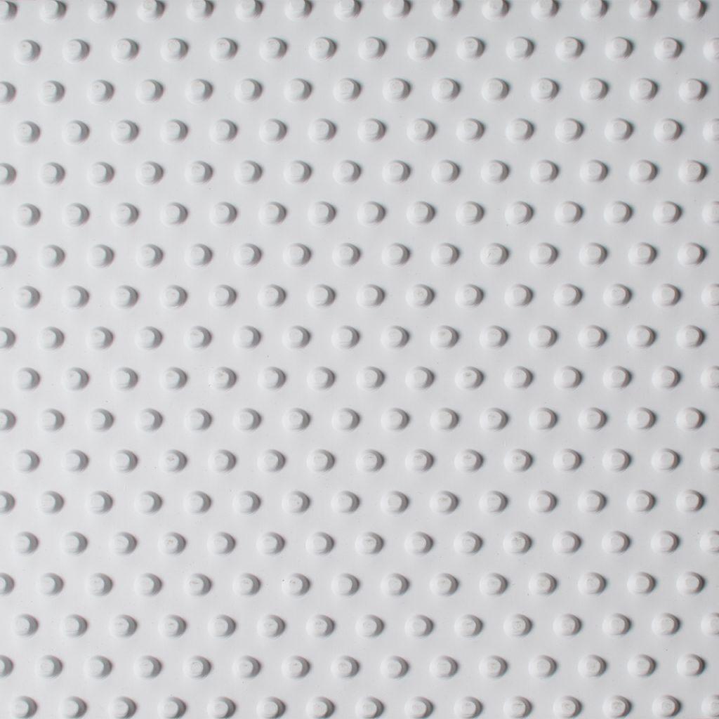 pebble matting white