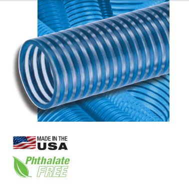 "KURIYAMA TIGERFLEX HOSE</br>""BLUE WATER"" BW Series Low Temperature PVC Suction Hose"