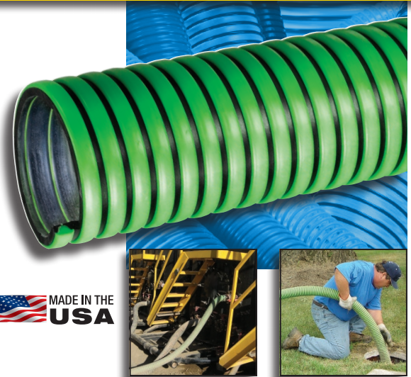 KURIYAMA TIGERFLEX</br> TG Series Tiger Green EPDM Suction Hose