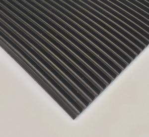 Corrugated rubber vinyl matting. Flooring. comes in black. easy cleaning. durable rubber vinyl matting flooring
